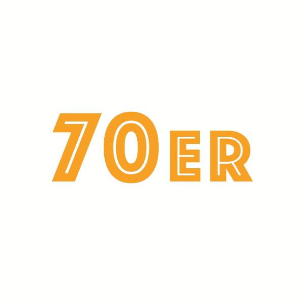Kreis mit dem Begriff 70er Jahre