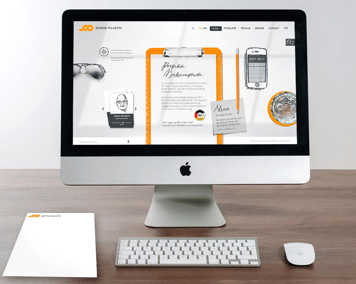 Bildschirm Startseite Senne Plastik Website