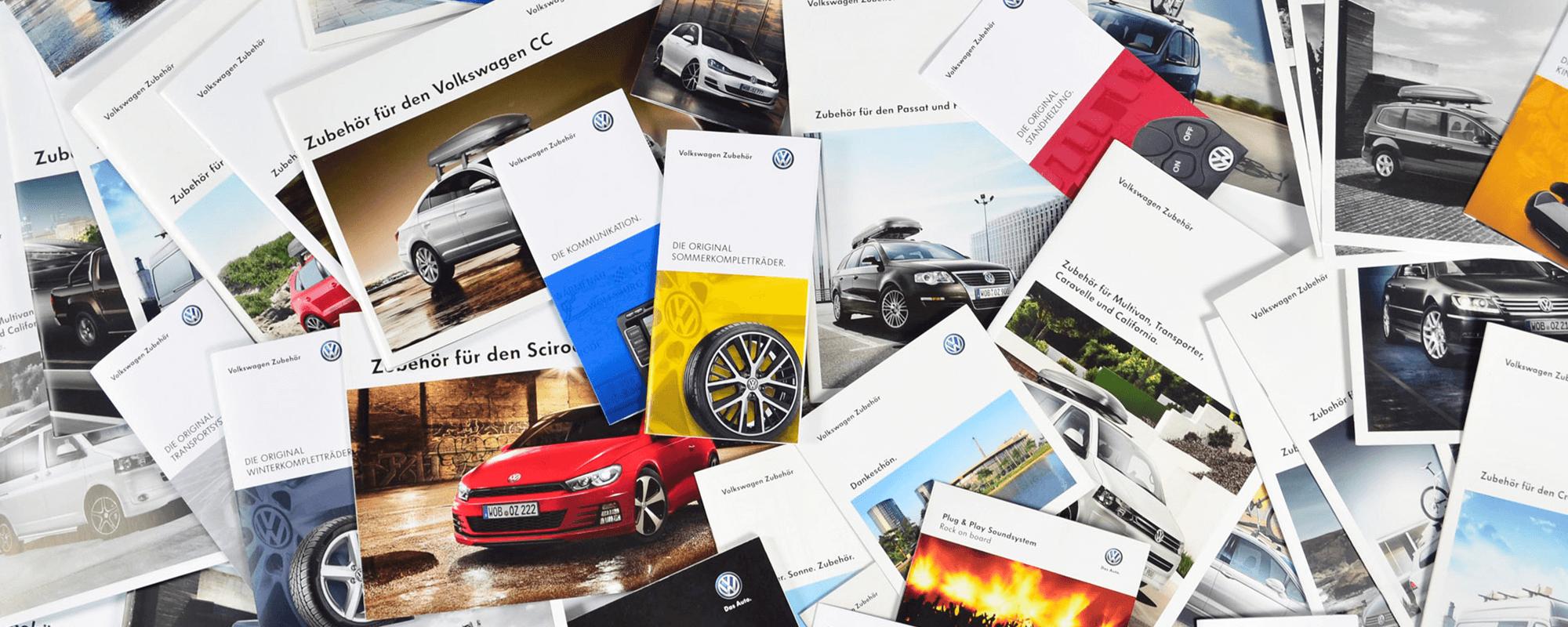 VW Zubehör Broschüren