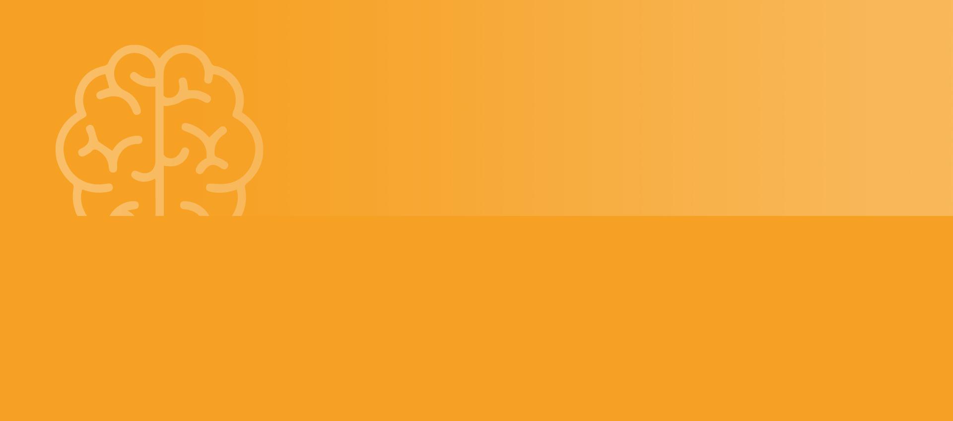 Mitdenkend - Oranger Hintergrund